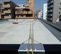 大阪市北区 外壁ロープ打診調査