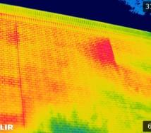 赤外線解析画像(講堂 南面)