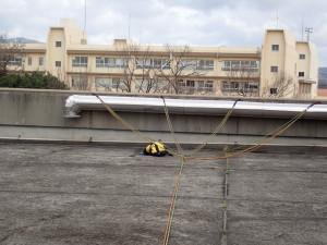 ロープ設置写真(荷重分散)