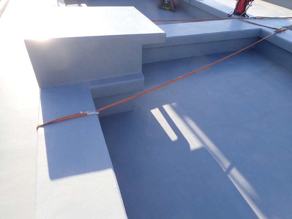 排水口を支点としたロープ設置