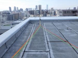屋上 ロープ設置状況