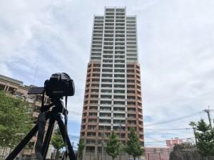 30階建てタワーマンションの目視状況